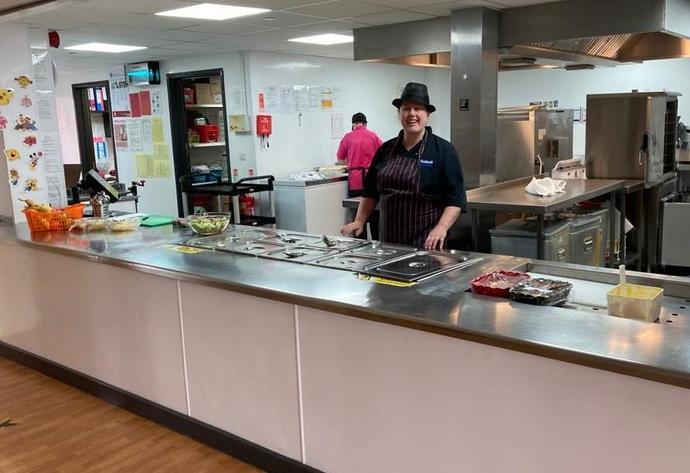 Helen, our school cook!