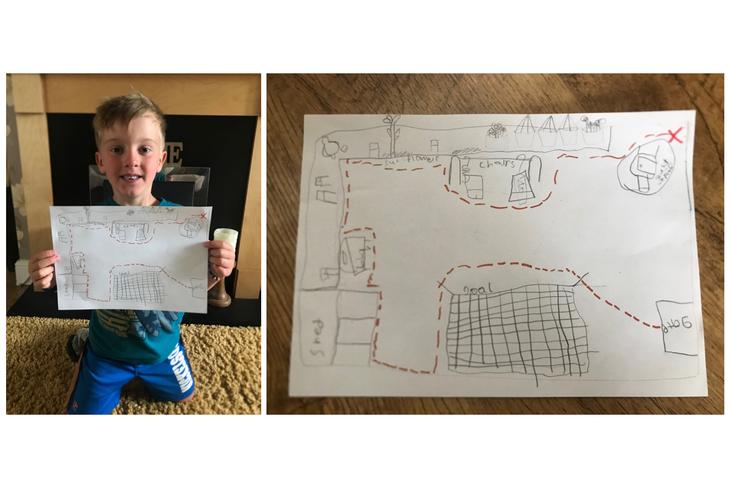 A super treasure hunt map Oliver!