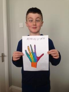 Well done Ben! You decorated your story hand too!