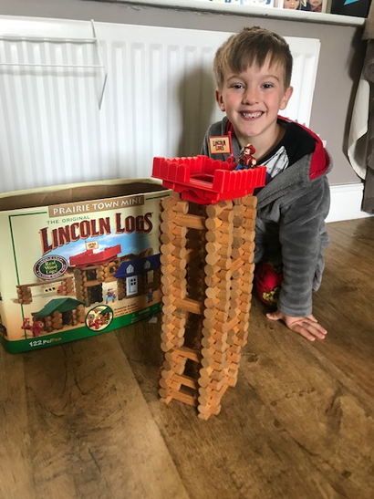 Oliver created 2 types of tower!