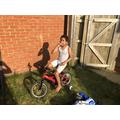 Mikel riding around on his bike!