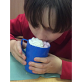 Hot chocolate for our sensory story
