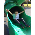 Playing on the slide