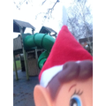 The Elf went and explored the playground.