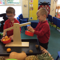 Exploring exotic fruit - heavy and light.