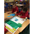 Working together to make a collage