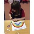 Making a shiny rainbow.