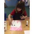 Making a polar bear