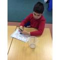 Recording measurements.