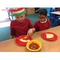 Making our own pizzas