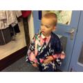 dressing up in kimonos