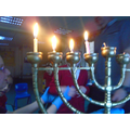Lighting the candles- one each night