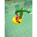 On Thursday the Elf went for a swim!