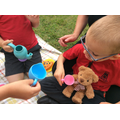 Taking the teddies on a picnic