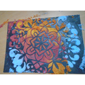Wow look at my Rangoli pattern