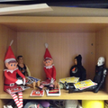 The Elf played a game with his friends.