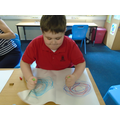 Clockwise and anticlockwise circles.