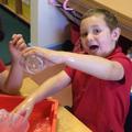 Exploring measuring jugs.