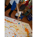 Making art like Jackson Pollock