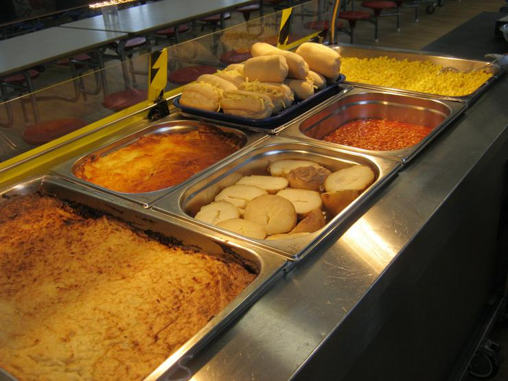 A selection of hot food