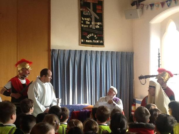 Jesus is questioned by Herod