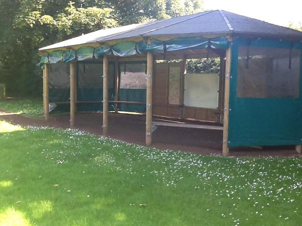 Our lovely outdoor classroom
