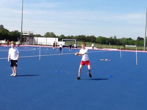 Practising throwing