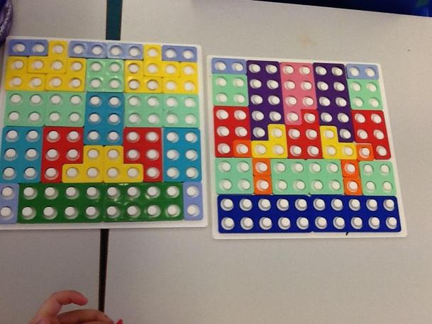 Cover the board challenge with Numicon.