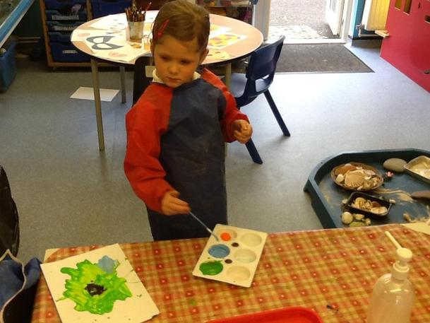 Mixing colours!
