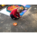 I am writing my sounds with chalk