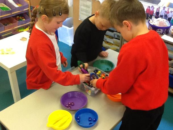 Let's sort the buttons by colour!