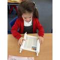 Looking at the Torah scroll