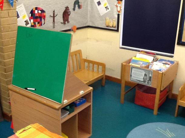 Mark making board /Reading area