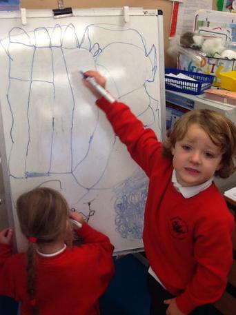 We like drawing!