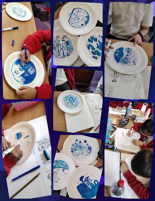 Finishing off our Willow Plates