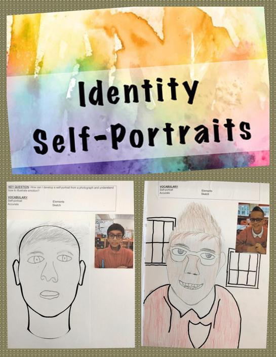 Pencil Sketch Self Portraits