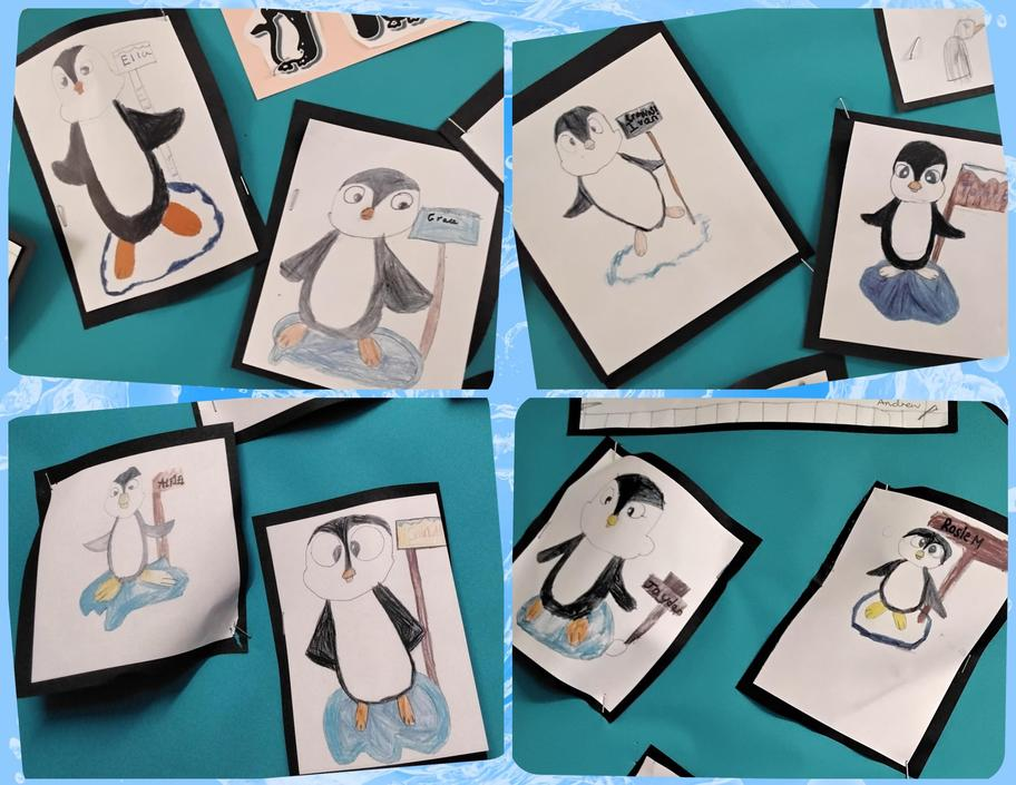 Our first attempt at sketching - Penguins