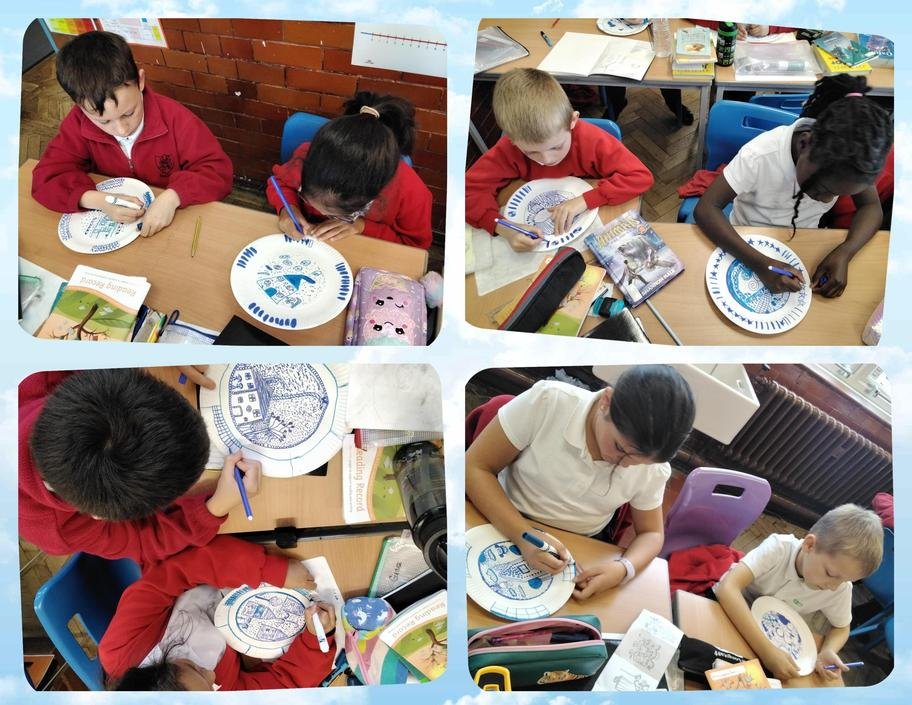 Starting our Willow Plate designs