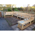Our mud kitchen in the Reception outdoor classroom