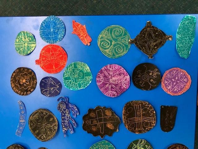 Our Anglo Saxon brooches were beautiful!