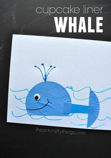 Cupcake liner whale