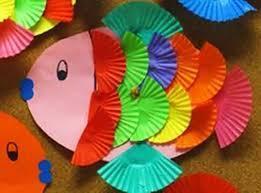 Paper cake case fish
