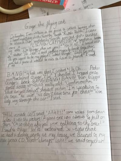 Isla's imaginative story