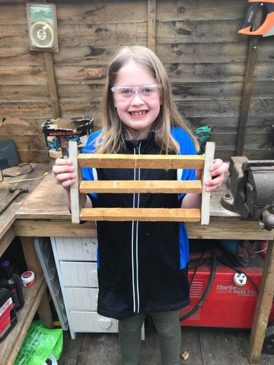 Designing & making a wooden card stand!