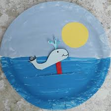 Moving paper plate Snail and the Whale