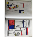 Grayson's fantastic Mondrian styled art work