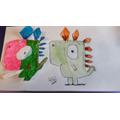 Zak and Nahla's artwork
