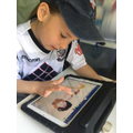 Creating pictures on the tablet
