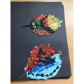 We used acrylic paint