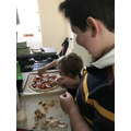 Cooking pizza with big brother